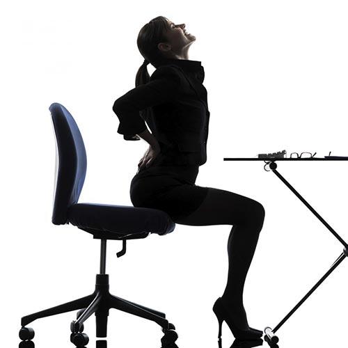 Mal di schiena da ufficio? Ecco come risolverlo!