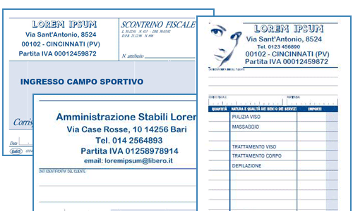 Modulistica personalizzata Buffetti grafica loghi Rimini