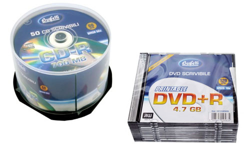 Archiviazione dati: cd e dvd