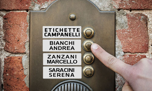 etichette posta e campanelli Rimini