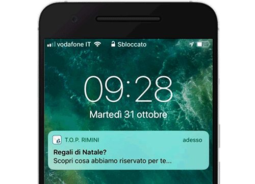Notifiche push App aziendale Rimini