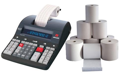 Rotoli carta termica e chimica per calcolatrici Buffetti
