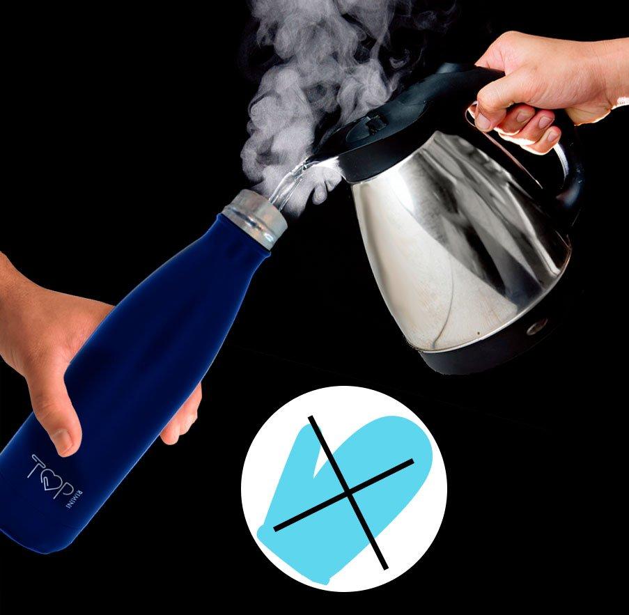 top rimini bottle è una bottiglia termica che non ti fa scottare le mani se metti del liquido bollente al suo interno